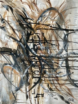 "Draw the Line Acrylic on Canvas 24"" x 18"""