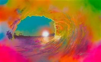 "Sol Spray Paint on Canvas 30"" x 48"""