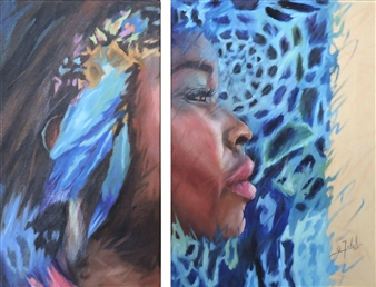 Gold Skin II  (Diptych)