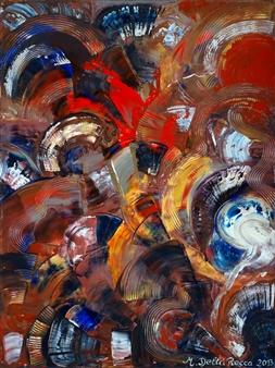"Eventails Acrylic on Canvas 51"" x 38"""