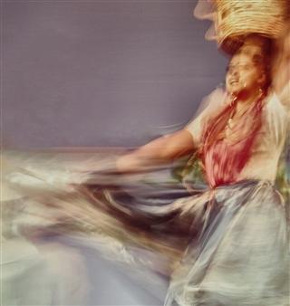 "Oaxaca Dance Photograph on Plexiglass 41"" x 42"""