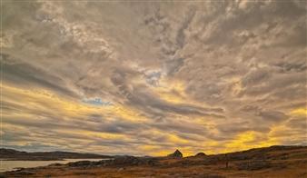 "Hebron Sunrise Photograph on Fine Art Paper 15"" x 26"""