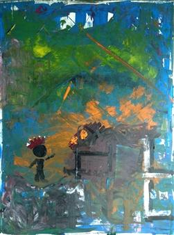 "aLL Tune Acrylic on Canvas 36"" x 24"""