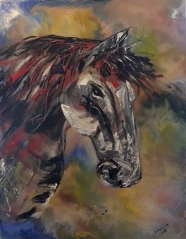 """Horse Acrylic on Canvas 35.5"""" x 27.5"""""""