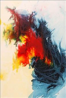 "Nebuli Ink on Paper 27"" x 20"""