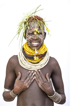 """Karo Woman Holding Breasts Archival Pigment Print 40"""" x 30"""""""