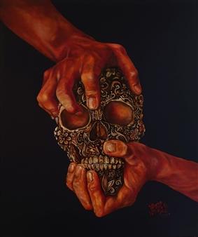 """La Morte Decorata di Gioventù II Oil on Canvas 27.5"""" x 23.5"""""""