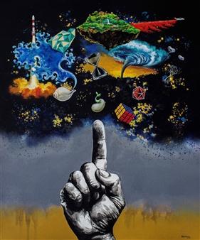 "Tat Tvam Asi Acrylic on Canvas 48"" x 39"""