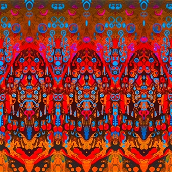 """FOREST KINGS: Tigers Bees and Manatees Digital Art and Acrylic on Canvas 20"""" x 20"""""""
