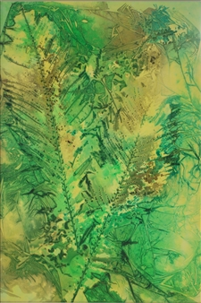 "Two Ferns Ink on Clayboard 36"" x 24"""