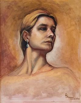 """Portrait Oil on Canvas 28"""" x 24"""""""