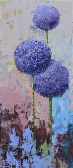 """Allium 2 Oil on Canvas 31.5"""" x 14"""" <span style='color:red;'>Sold</span>"""