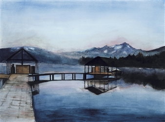 Redfish Lake Misty Morning