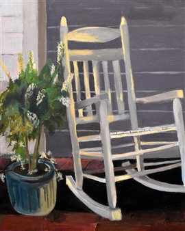 """Sit A While Acrylic on Canvas 20"""" x 16"""""""