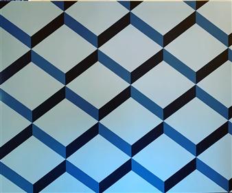 "The Contemporary #BLUE Acrylic on Canvas 60"" x 72"""