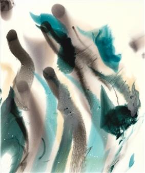 "Pivot Acrylic & Ink on Canvas 24"" x 20"""