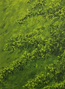 """Botanical Garden 2 Oil & Acrylic on Canvas 40.5"""" x 30"""""""
