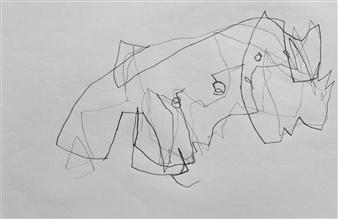 "VvA-G Pencil on Paper 12"" x 16.5"""