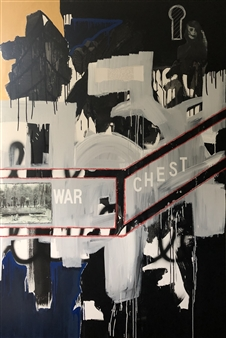 """War Chest Mixed Media on Canvas 72"""" x 48"""""""