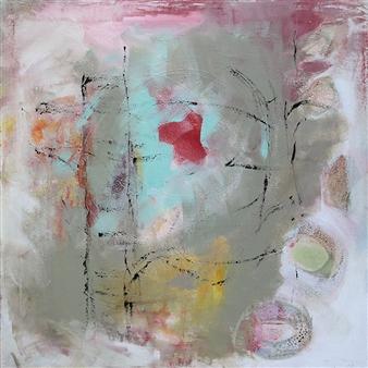 "Abstrakt Mixed Media & Acrylic on Canvas 31.5"" x 31.5"""