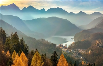 """A view from the Neuschwanstein Castle - Carrie Caldwell - United States Photograph 0"""" x 0"""""""