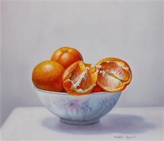 "Bol con Naranjas Oil on Canvas 15.5"" x 15.5"""