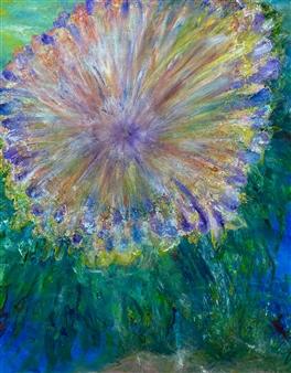 """Emma's Flower Acrylic & Oil on Canvas 60"""" x 48"""""""