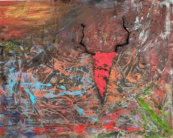 "Spirit Animal III Mixed Media on Canvas 48"" x 60"""