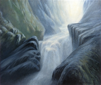 """Stone and Water Oil on Canvas 21.5"""" x 26"""""""