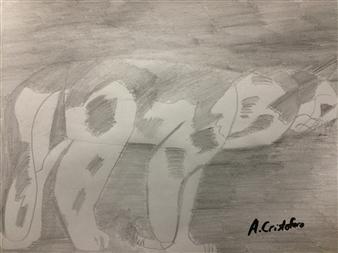 "Cally Jr. Graphite on Paper 9"" x 12"""