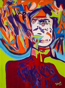 "Third Eye Oil & Acrylic on Canvas 48"" x 36"""