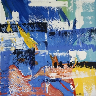 """34/05 T Acrylic on Canvas 25.5"""" x 25.5"""""""