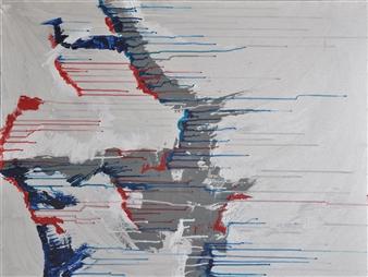 """Sans Titre 2010-2 Acrylic on Canvas 32"""" x 39.5"""""""