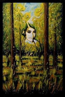 "Madre Natura. Acrylic on Canvas 23.5"" x 15.5"""