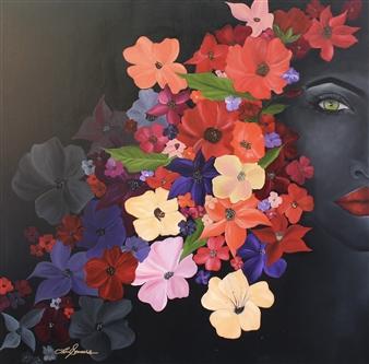 """Samba Oil on Canvas 36"""" x 36"""""""