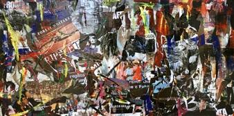 "Porte Aperte Mixed Media on Canvas 23"" x 63"""