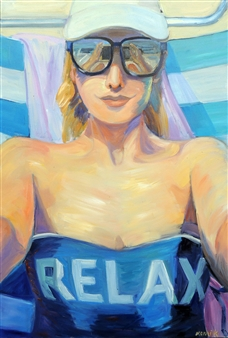 """Relax Oil on Canvas 37.5"""" x 25"""""""