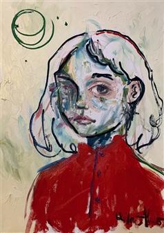 "Unitled X Oil on Canvas 11"" x 9.5"""