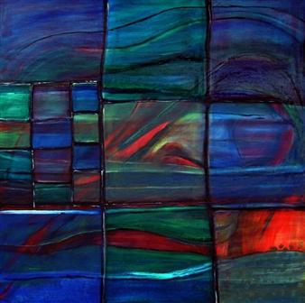 "The Glass Blower Window Oil on Linen 35.5"" x 35.5"""