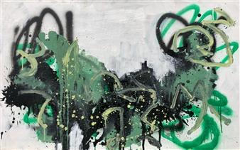 """Fri 2 Acrylic & Oil on Canvas 37.5"""" x 41.5"""""""