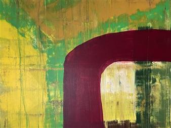 """Top Dog Acrylic on Canvas 31.5"""" x 39.5"""""""