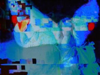 "Immortalité Digitale VII Mixed Media on Canvas 20"" x 28"""