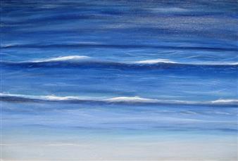 "Pacific Ocean II Acrylic on Canvas 24"" x 30"" x 1.5"""