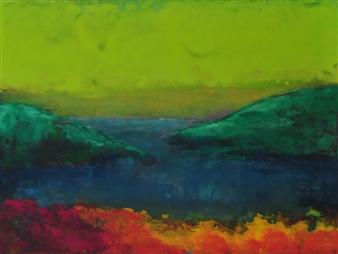 "Summer Heat Acrylic on Paper 12"" x 16"""