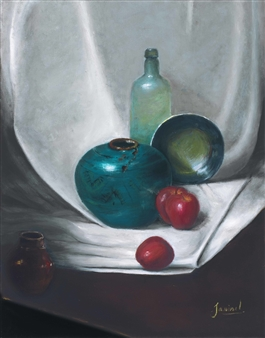"Crystal Bottle Oil on Canvas 14"" x 12"""