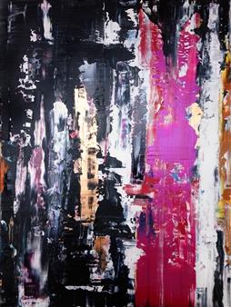 "Untitled 38 Acrylic on Canvas 40"" x 30"""