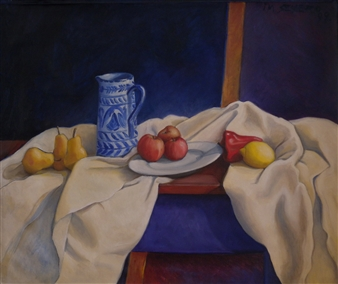 "Talabera Oil on Canvas 25.5"" x 30"""