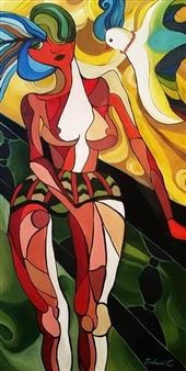 "Coco Acrylic on Canvas 59.5"" x 39.5"""