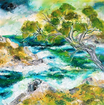 """The Marine Tree Playing with Eole Acrylic on Canvas 24"""" x 24"""""""