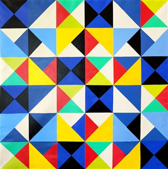 """The Mystery of Geometry #3 Acrylic on Canvas 39.5"""" x 39.5"""""""